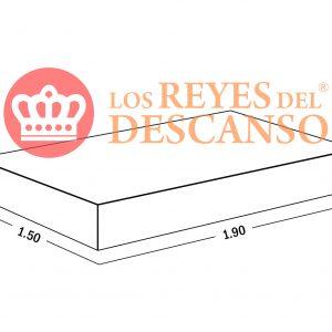 Conjunto Colchon Equis 150*25*190 Doble Pillow