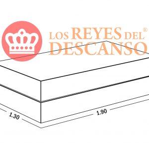 Conjunto Colchon Silver 130*22*190 Tela Sabana