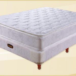 Conjunto Colchon Equis 150x25x190 Doble Pillow
