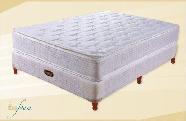 Conjunto Colchon Equis 180X25X200 Doble Pillow