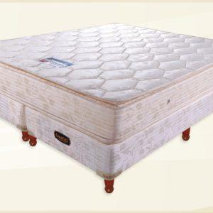 Conjunto Colchon GOLD JACKARD 160x26x200 Doble Pillow