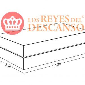 Somiers con Cajones ECO CUERO 140X190
