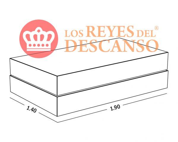 Oferton conjunto Silver 140x190 base Universal