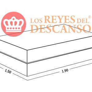 Conjunto Colchon Silver 150x22x190 Tela Sabana