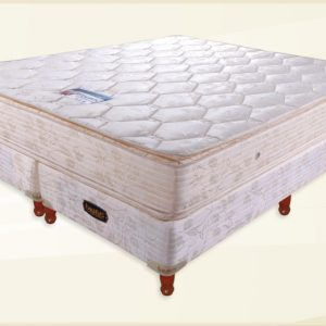 Oferton 140x190 Gold Jackard Doble Pillow más Base Universal
