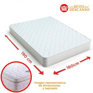 Colchon LUXOR 160x32x200 Doble Pillow