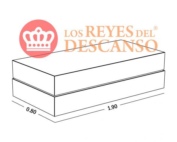 Oferton conjunto Silver 80x190 base Universal